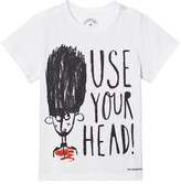 Burberry White Use Your Head Beefeater Print Junior Tee