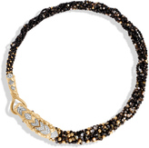 John Hardy Women's Legends Naga Multi Row Necklace, 18K Gold, Black Mother of Pearl and Dia