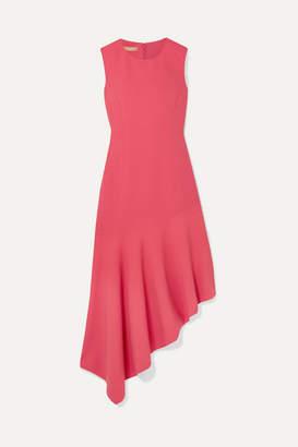 Michael Kors Asymmetric Wool-blend Midi Dress - Pink