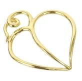 Tiffany & Co. 18K Yellow Gold Heart Leaf Charm