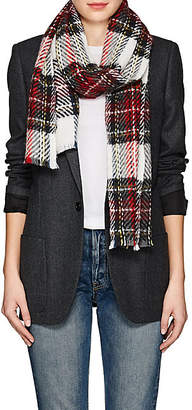 Barneys New York Women's Plaid Cashmere-Blend Scarf - Red