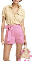 J.Crew Women's Cotton Poplin Tie Waist Shorts