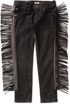 Ralph Lauren Faux-Leather Fringe Jeans, Toddler & Little Girls (2T-6X)