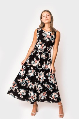 Gibson The DoubleTake Girls Belted Maxi Dress