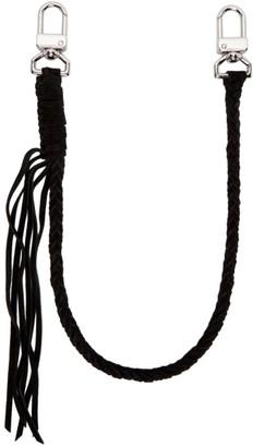 Amiri Black Suede Wallet Keychain