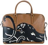 Valentino Brown panther briefcase