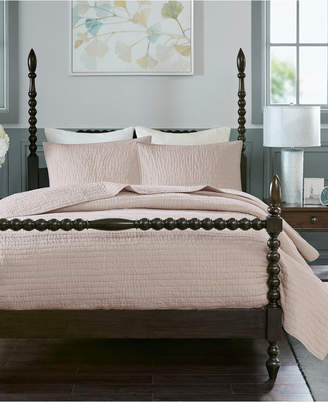 Madison Home USA Signature Serene King 3 Piece Cotton Hand Quilted Coverlet Set Bedding
