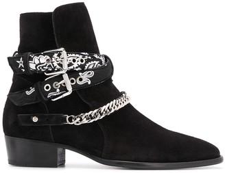 Amiri Bandana Strap Ankle Boots