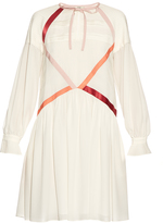 Fendi Contrast ribbon crepe de Chine dress