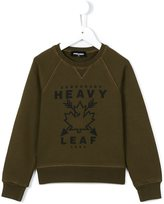 DSQUARED2 heavy leaf print sweatshirt