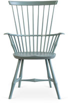 O&G Studio Wayland Highback Armchair, Anchor Blue