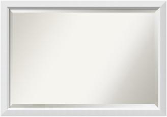 "Amanti Art Bathroom Mirror, Fits Standard 30"" to 48"" Cabinet, Blanco White, 40""x2"