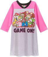 Super Mario Bros. Game On Nightgown, Little Girls (2-6X) & Big Girls (7-16)