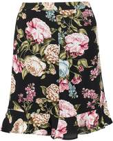 Dorothy Perkins FLORAL WRAP MINI Mini skirt peach