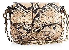 Zadig & Voltaire Kate Studded Snake-Print Shoulder Bag