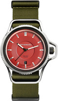 Givenchy GY100181s06 Seventeen stainless steel and leather watch