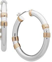 Ralph Lauren Two-Tone Medium Hoop Earrings