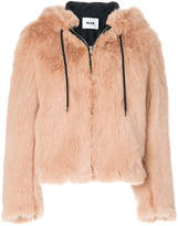 MSGM faux fur hooded coat