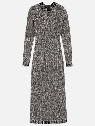 Maison Ullens Chine Tweed Long Sleeve Turtleneck dress