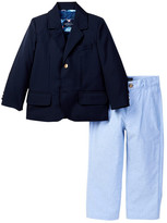 Andy & Evan Blazer & Oxford Pant Set (Toddler & Little Boys)