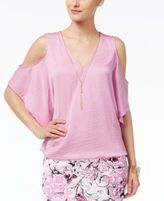 Thalia Sodi Necklace Cold-Shoulder Top, Only at Macy's