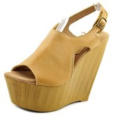 Sbicca Tullane Women Open Toe Leather Wedge Sandal.