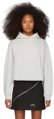 Alexander Wang Grey Heavy French Terry Hoodie