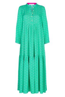 Libelula Claude Dress Green Stripey Triangle Print