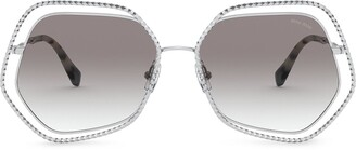 Miu Miu La Mondaine geometric-frame sunglasses