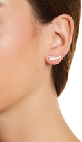 Dogeared 14K Gold Plated Sterling Silver Love is a State of Mind Texas Earrings