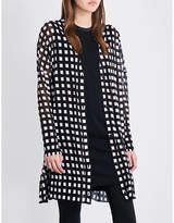 Rag & Bone Michaela grid-patterned cotton cardigan