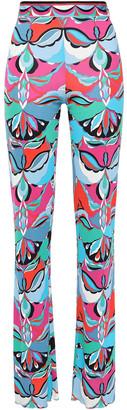 Emilio Pucci Printed Jersey Bootcut Pants