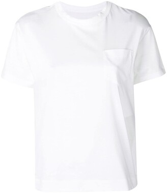 Sacai side zipped T-shirt