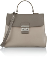 Miu Miu Pattina Madras two-tone textured-leather shoulder bag