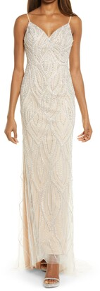 Lulus Luxe of a Lifteime Beaded Mermaid Gown