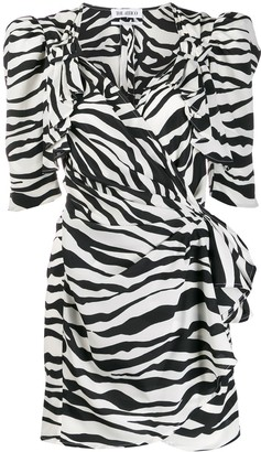 ATTICO Animal Print Puff Shoulder Dress