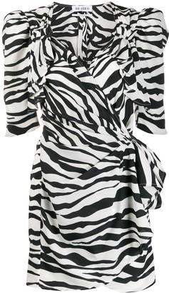 ATTICO The animal print puff shoulder dress