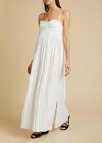 KHAITE The Jordyn Dress in White
