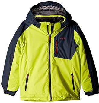Kamik Hudson Color Block Jacket (Infant/Toddler/Little Kids/Big Kids) (Leaf Charcoal/Feuille Charbon) Boy's Coat