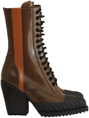 Chloé Rylee Brown Leather Ankle boots