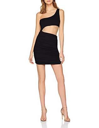 NEON COCO Women's Cutout One Sleeve Bodycon Dress Party, Black (Negro C10), Medium
