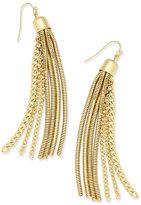 Thalia Sodi Gold-Tone Chain Tassel Earrings, Only at Macy's