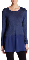 Joe Fresh Mix Media Long Sleeve Tunic