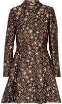 Alice + Olivia Veronika Metallic Brocade Coat