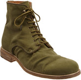 Shoto Oiled Canvas Lace-Up Boot