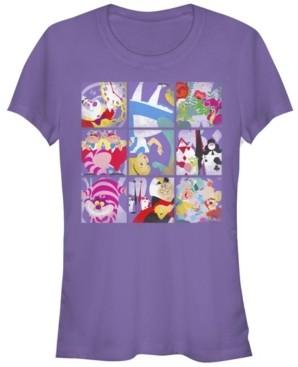 Fifth Sun Women's Alice in Wonderland Wonder Art Blocks Short Sleeve T-shirt