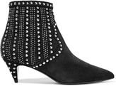 Saint Laurent Studded suede ankle boots