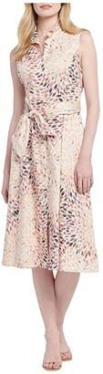 Nic+Zoe Morning Burst Shirtdress (Orange Multi) Women's Clothing