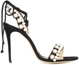 Monique Lhuillier pearl detail stiletto sandals