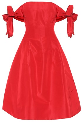 Oscar de la Renta Silk satin off-the-shoulder dress